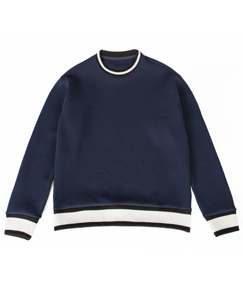 레이지_PUFF CUSHION KINT SWEATSHIRTS NAVY