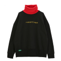 유나이티드와펜(UNITEDWAPPEN) [유나이티드와펜] UNITEDWAPPEN ROMANTIQUE OVER SIZE TURTLE NECK SWEATSHIRTS (BLACK)