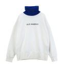 [유나이티드와펜] UNITEDWAPPEN ROMANTIQUE OVER SIZE TURTLE NECK SWEATSHIRTS (WHITE)