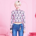브이브이브이(VVV) VVV MIRACLE CHARMS PINK  CROPPED TOP