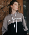 엠디엠에스 바이 매드마르스(MDMS By MADMARS) COLOR BLOCK HOODIE - GRAY