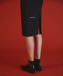 써틴먼스(13MONTH) VG BLACK medi skirt