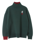 메인부스() Cactus Turtleneck Sweater(GREEN)