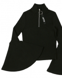 클럿 스튜디오(CLUT STUDIO) 0 2 bell sleeve zip-up neck knit