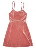 클럿 스튜디오(CLUT STUDIO) 0 7 punk velvet dress : pink