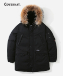 커버낫(COVERNAT) GOOSE DOWN N3B PARKA MID-LONG BLACK