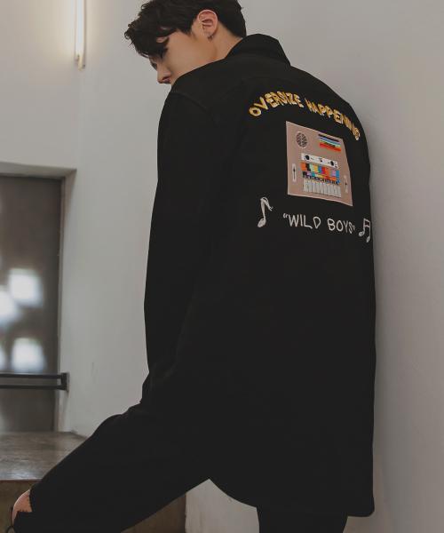 오버사이즈해프닝_16A/W 신디사이저 수베니어 셔츠 자켓 블랙