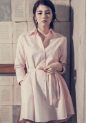 아빈(ARVVIN) pin point shirt dress (pink)
