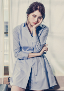 아빈(ARVVIN) pin point shirt dress (skyblue)