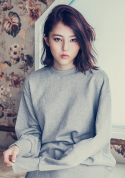 아빈(ARVVIN) side zip Sweatshirt (gray)