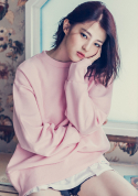 아빈(ARVVIN) side zip Sweatshirt (pink)