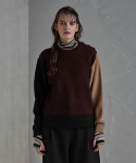 레이트(LEIT) SHOURLDER BUTTON KNIT BURGUNDY U