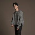 유주얼 에딧(USUAL EDIT) Edit Neck Knit(Gray Tweed)