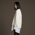 유주얼 에딧(USUAL EDIT) Edit Neck Knit(Ivory)