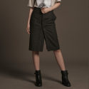 유주얼 에딧(USUAL EDIT) Trench dv Skirt(Khaki Brown)