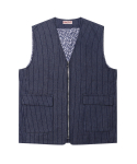 러기드하우스(RUGGED HOUSE) LINE ZIP-UP DENIM VEST