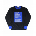 런디에스(RUNDS) RUNDS screen half sweatshirt (black/blue)