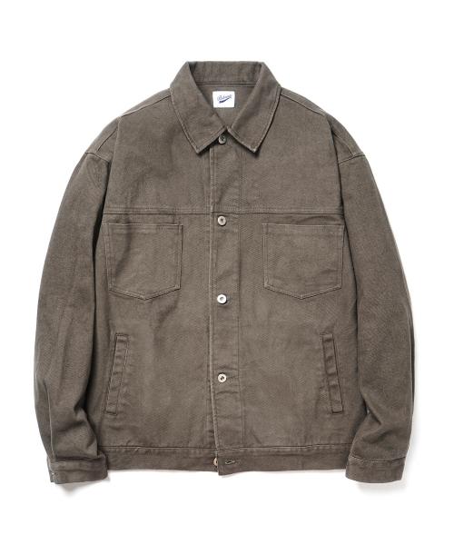 파르티멘토_Peach Twill Jacket Dark Khaki