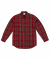 LOOSE FIT FLANNEL SHIRTS (RED)