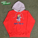 뱅크투브라더스(BANK2BROTHERS) BAD TRIP BEAR HOODIE (RED GRAY)