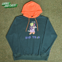 뱅크투브라더스(BANK2BROTHERS) BAD TRIP BEAR HOODIE (FORESTGREEN ORANGE)