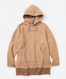LAYERED REBEL YOUTH HOODIE BEIGE