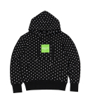 문수권세컨(MSKN2ND) POLKA DOTS BOX LOGO HOODY BLACK