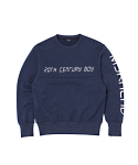 문수권세컨(MSKN2ND) DIGITAL LETTER SWEATSHIRT INDIGO