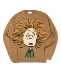 라이풀(LIFUL) LIFUL x PEANUTS PEPPERMINT KNIT SWEATER camel