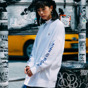 본챔스(BORN CHAMPS) BC HALF HIGH NECK SWEATSHIRT WHITE CEPDMMT02WH