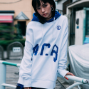 본챔스(BORN CHAMPS) DOWN OVERFIT HOOD WHITE CEPDMHD01WH