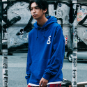 본챔스(BORN CHAMPS) LAYERD AND SLIT HOOD BLUE CEPDMHD04BL