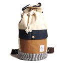 DUFFLE BAG-IVORY/NAVY