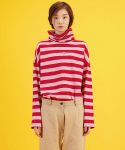 코드(CHORRD) Icon Embroidered Striped High Neck
