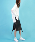 코드(CHORRD) Asymmetric Leather Skirt