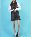 코드(CHORRD) Textured-leather Flare Dress