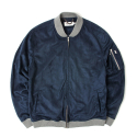세인트페인() SP AVIA SUEDE FLIGHT JKT-NAVY