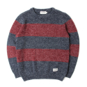세인트페인(SAINTPAIN) SP NEVERMIND KNIT STRIPE LS-RED