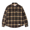 세인트페인() SP EDDIE WOOL CHECK SHIRT LS-BROWN