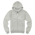LOGO HOODY ZIP UP-GREY