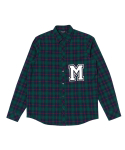 문수권세컨(MSKN2ND) M PATCH CHECK SHIRT GREEN
