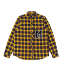 문수권세컨(MSKN2ND) M PATCH CHECK SHIRT YELLOW