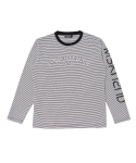 문수권세컨(MSKN2ND) RENAISSANCE LS T-SHIRT WHITE+BLACK STRIPE