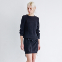 메종드이네스(MAISONDEINES) MINIMAL KNIT DRESS_BK
