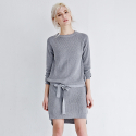 메종드이네스(MAISONDEINES) MINIMAL KNIT DRESS_GY