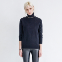 메종드이네스(MAISONDEINES) BASIC TURTLENECK GOLD THREAD KNIT_BK