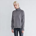 메종드이네스(MAISONDEINES) BUTTON POINT TURTLENECK KNIT_GY