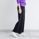 메종드이네스(MAISONDEINES) PURPLE LINE WIDE KNIT PANTS_BK