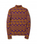 MADE ME / EARTH CRISIS MOCK NECK / GOLD/PURPLE