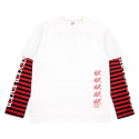 네버에버(NEVEREVER) [네버에버] DANGER LAYERED BOARDER LONG T (White)